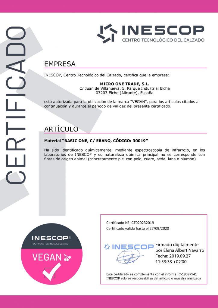 cuero vegano certificado